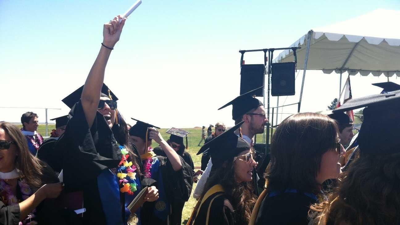 Students graduate from U.C. Santa Cruz