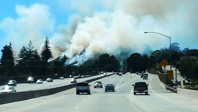 Santa Cruz fishhook fire
