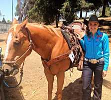 KSBW Anchor Brittany Nielsen rode her horse in the Watsonville parade. (July 4, 2013)