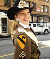Tracy Hinsonis the 2012 Miss California Rodeo Salinas and on Thursday she passed on her crown another young cowgirl.