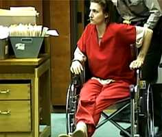 Sloan looked starkly different when she appeared in court in December 2012. She started shaking and had an unknown medical emergency before she could enter a plea. She was wheeled out in a wheelchair.