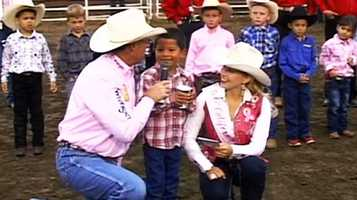 Little buckaroos stole the stage at the 2013 California Rodeo Salinas with their mutton busting. Juaquin Olivarria, 7, was the night's big mutton busting champion.
