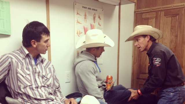 Medical team stands by to help injured cowboys at rodeo