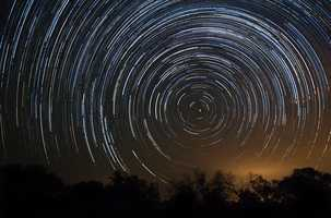 Star trails while watching Perseid meteor shower.