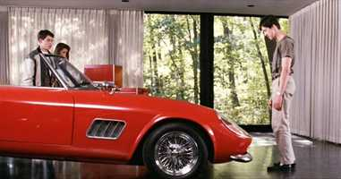 """Cameron: """"Ferris, my father loves this car more than life itself.""""Ferris: """"A man with priorities so far out of whack doesn't deserve such a fine automobile.""""Ultimately, after a joy ride and crazy day, the car ends up crashing through Cameron's parents' glass garage and launches down a cliff."""
