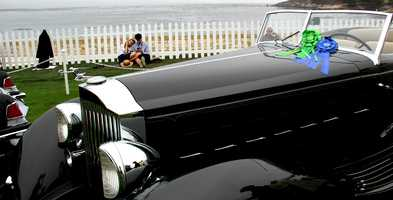 """A 1934 Packard 1108 Twelve Dietrich Convertible Victoria zoomed away with the """"Best Of Show"""" trophy."""