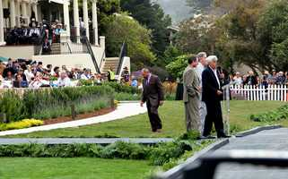 Celebrity Jay Leno always helps raise thousands for local charities during the concours.