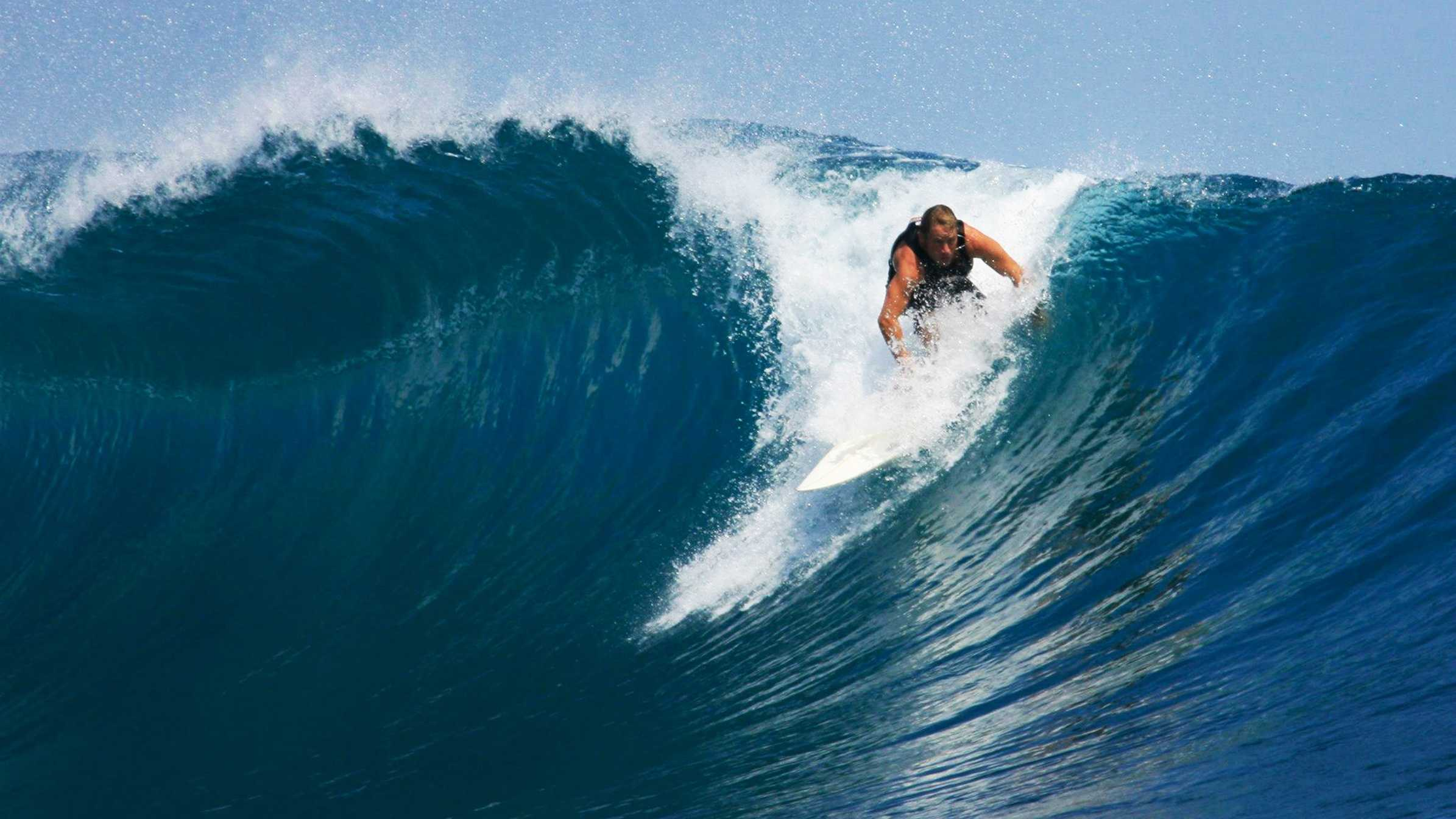 Dylan Greiner, 38, of Santa Cruz, is well known in the surfing community.