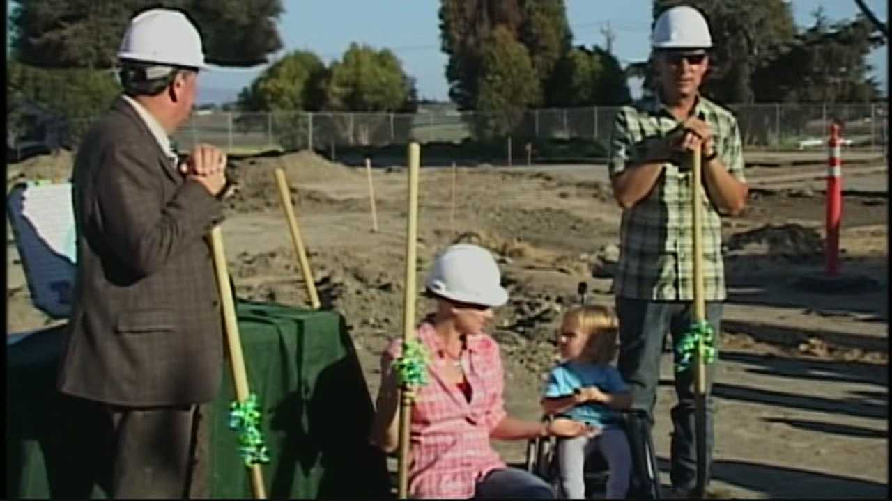 Park supporters and community leaders broke ground Thursday at Tatum's Garden, the first Salinas playground designed for full access for all children, including children in wheelchairs.