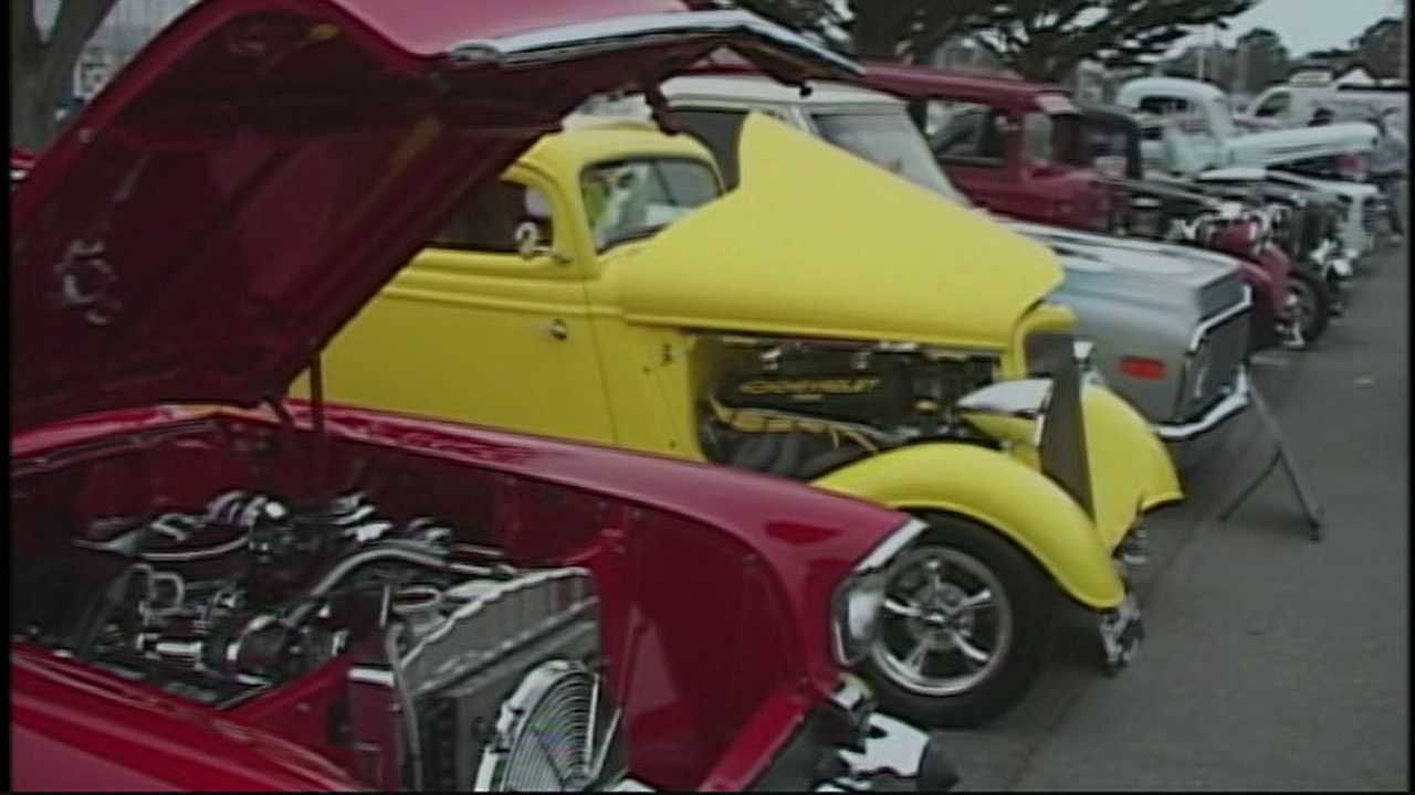 The celebration continues in Monterey, with classic cars spread all over downtown and the waterfront for Cherry's Jubilee. Tonight is the show and shine on the wharf, with hundreds of cars, and thousands of car lovers spending this evening there.