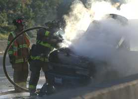 All three southbound lanes of Highway 1 near the Emeline Avenue exit were closed for an hour while emergency crews extinguished a blaze, rescued crash victims and cleared wreckage off the roadway.