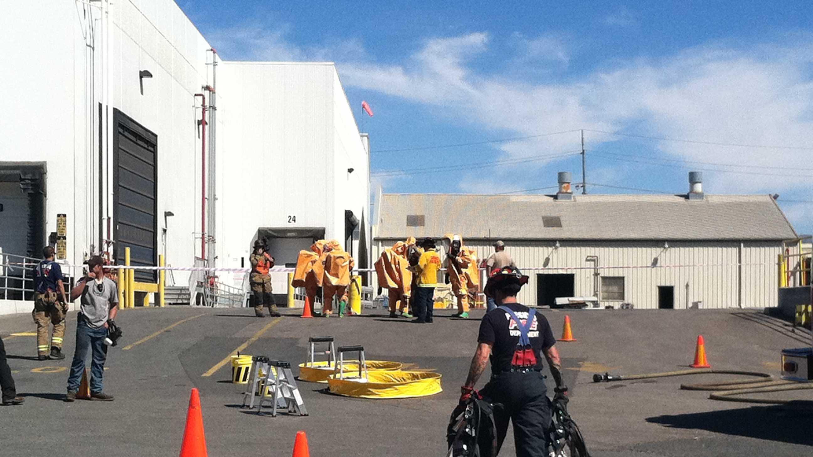 Hazmat teams investigate possible ammonia leak at Taylor Farms