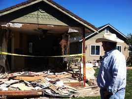 A suspected drunk driver in Hollister crashed into the Hollister police chief's house at 1 a.m. Friday.Police Chief David Westrick was home sleeping when a pickup truck suddenly went through the front of his house like a wrecking ball. Westrick, his wife and his daughter were jolted awake.