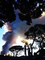 """""""Little scary but beautiful,"""" Yvonne Ebberoth wrote about Tuesday's burn."""