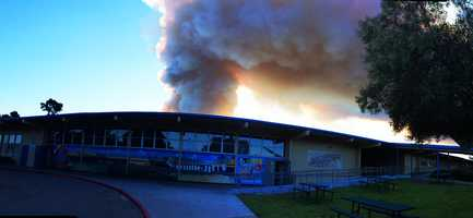 The Army's double controlled burn at the former Fort Ord military training base was spotted by residents on all sides of the Monterey Bay Monday and Tuesday.