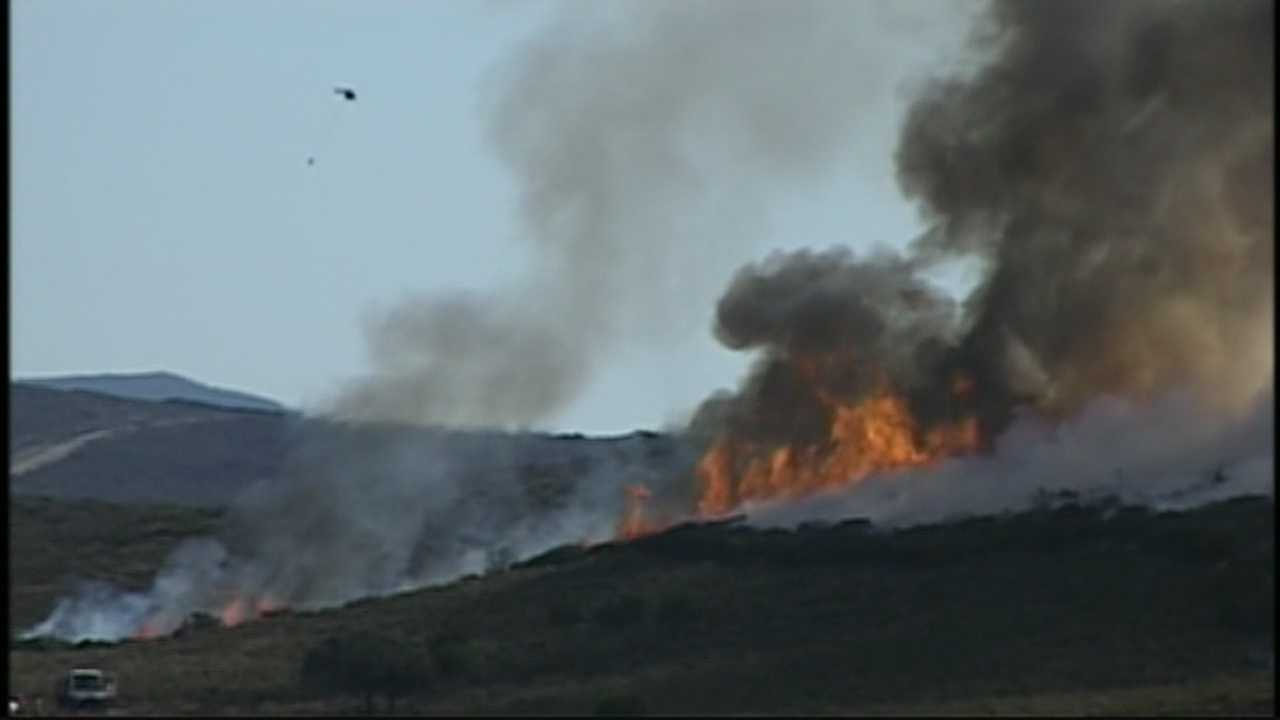 The Army conducted two controlled burns, scorching nearly 1,000 acres on the former military base Fort Ord.