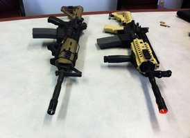 Fake guns are marked with bright orange tips. Gangsters in Salinas, however, will paint real guns with orange tips to disguise their weapons, the police chief said.