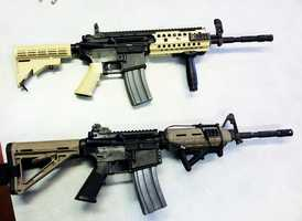 McMillin showed KSBW some examples of real assault rifles next to fake ones. Can you tell which gun is fake?