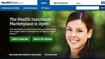 "Since the troubled website launched Oct. 1, ""Obamacare girl"" greeted visitors as they attempted to sign up for insurance coverage."