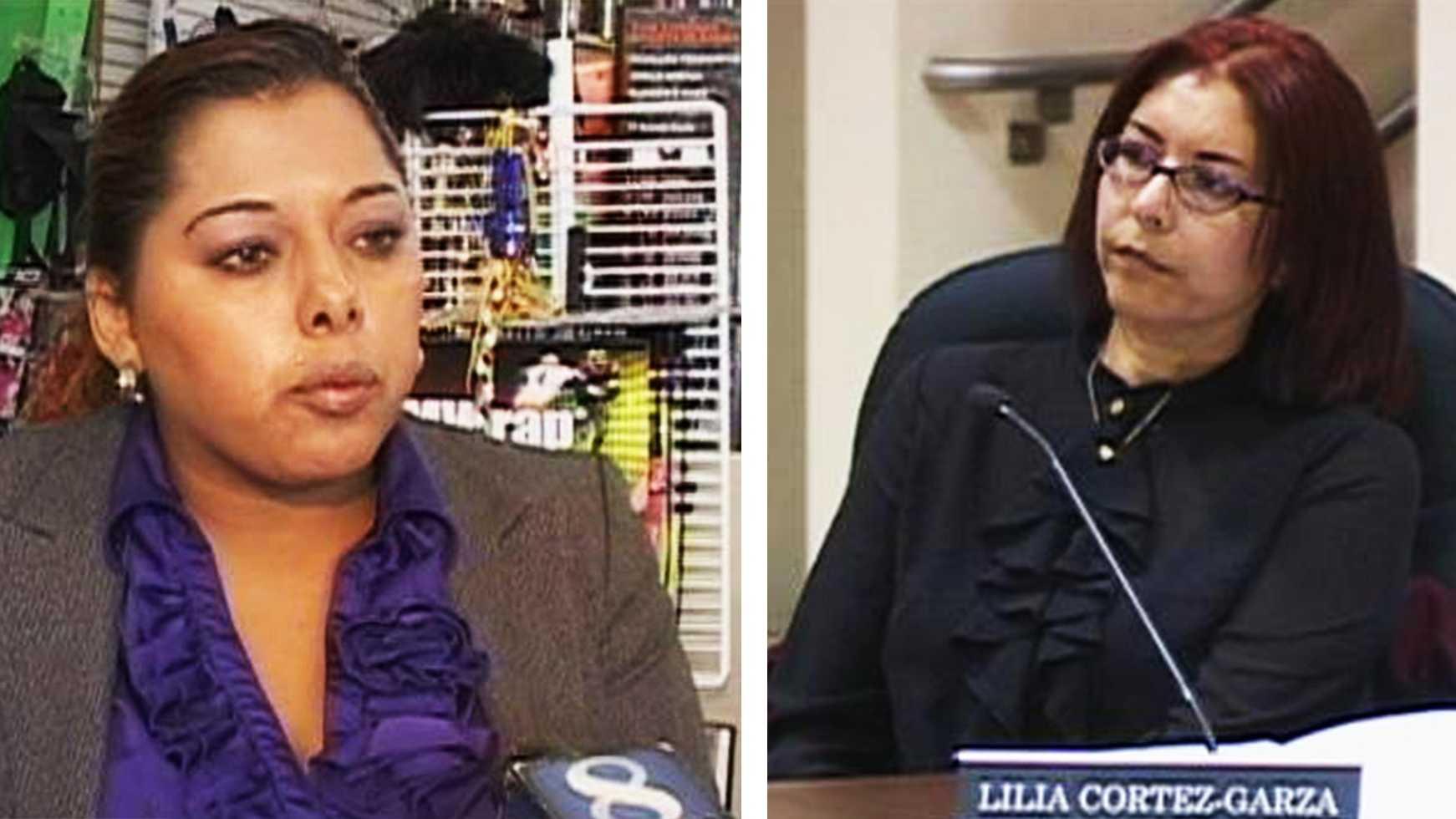 Maricela Cruz, left, is running against incumbent Lilia Cortez-Garza, right, for the Area 2 school board seat.