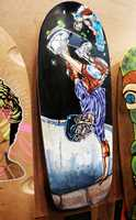 The 4th-Annual Skate Art and Fundraiser Board Rescue Show happened on Nov. 2 at Santa Cruz Boardroom on 41st Avenue. Skateboards were designed by local artists.