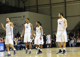 The Warriors opened their 2013-2014 season with a 121-102 win against the Austin Toros on Nov. 23. Seth Curry finished with a record 36 points.