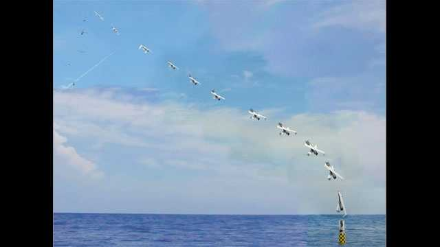 Drone launched from submarine