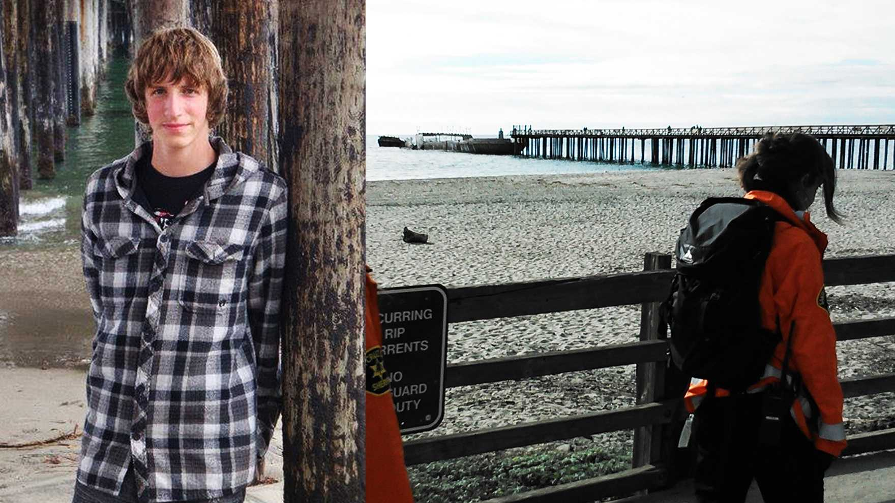 Nathan Phillips, 17, of Aptos, is missing. His bicycle was found at Seacliff Beach and Sheriff's search crews combed the beach for clues Friday.