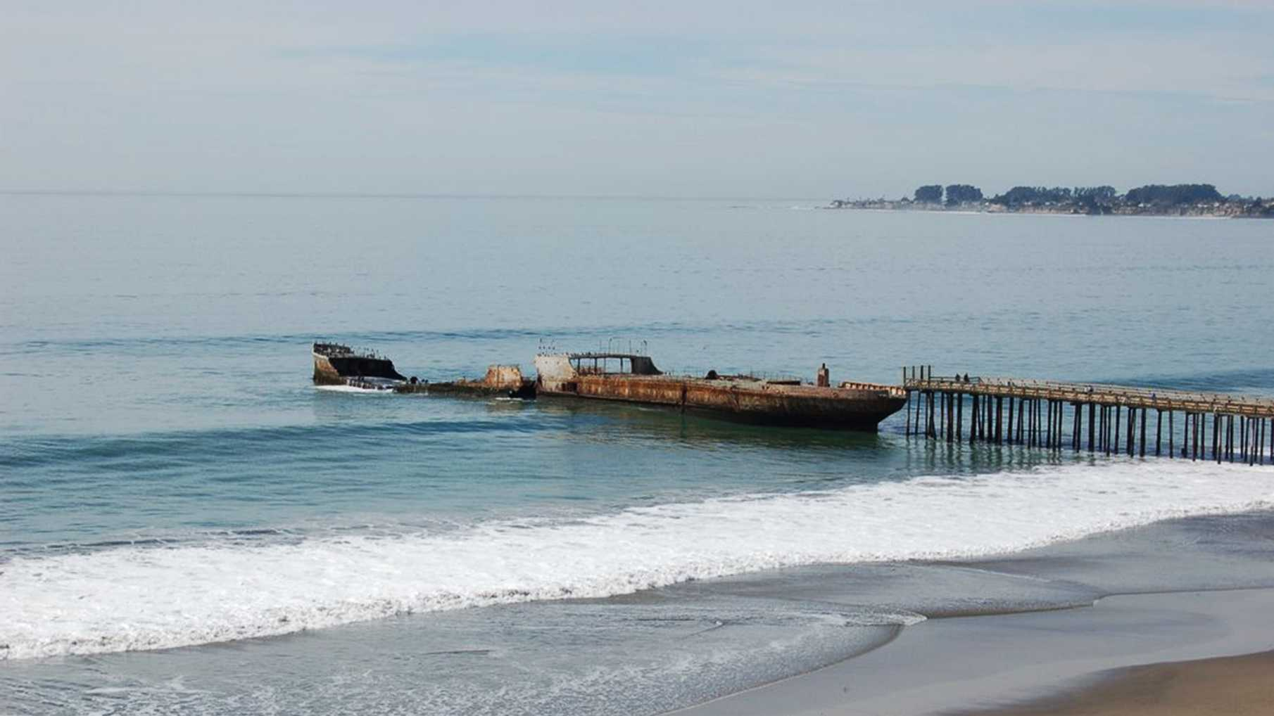 Cement ship before the storm