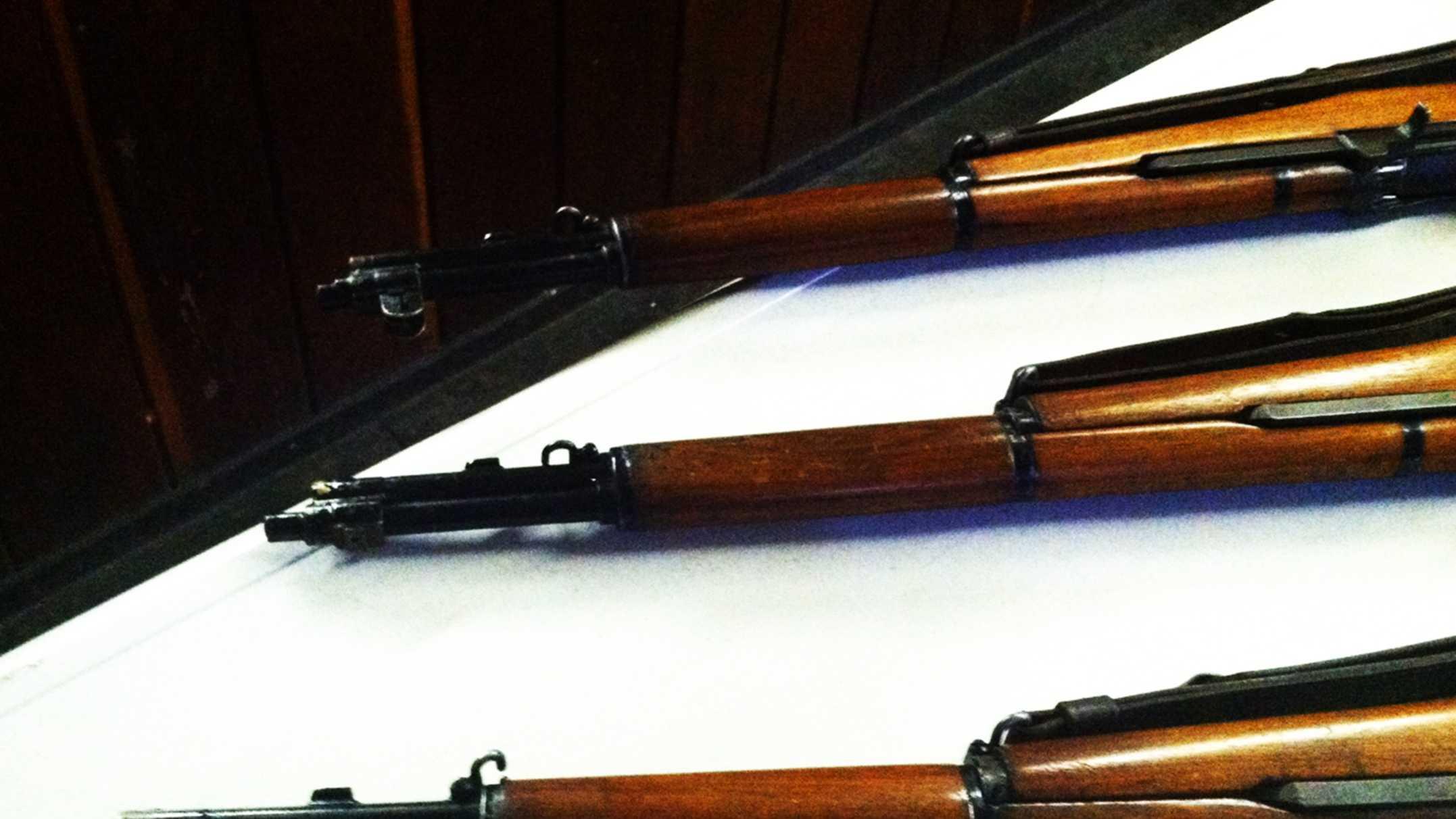 Stolen rifles