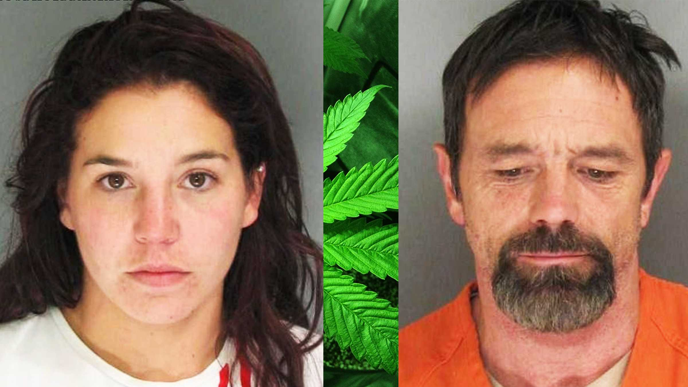 Bobbie Jean Pena, left, and William Kingsland, right, are seen in mug shots.