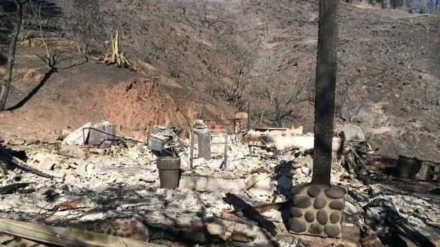 Jessica Pinney's Pfeiffer Ridge home was destroyed in the recent Big Sur wildfire.