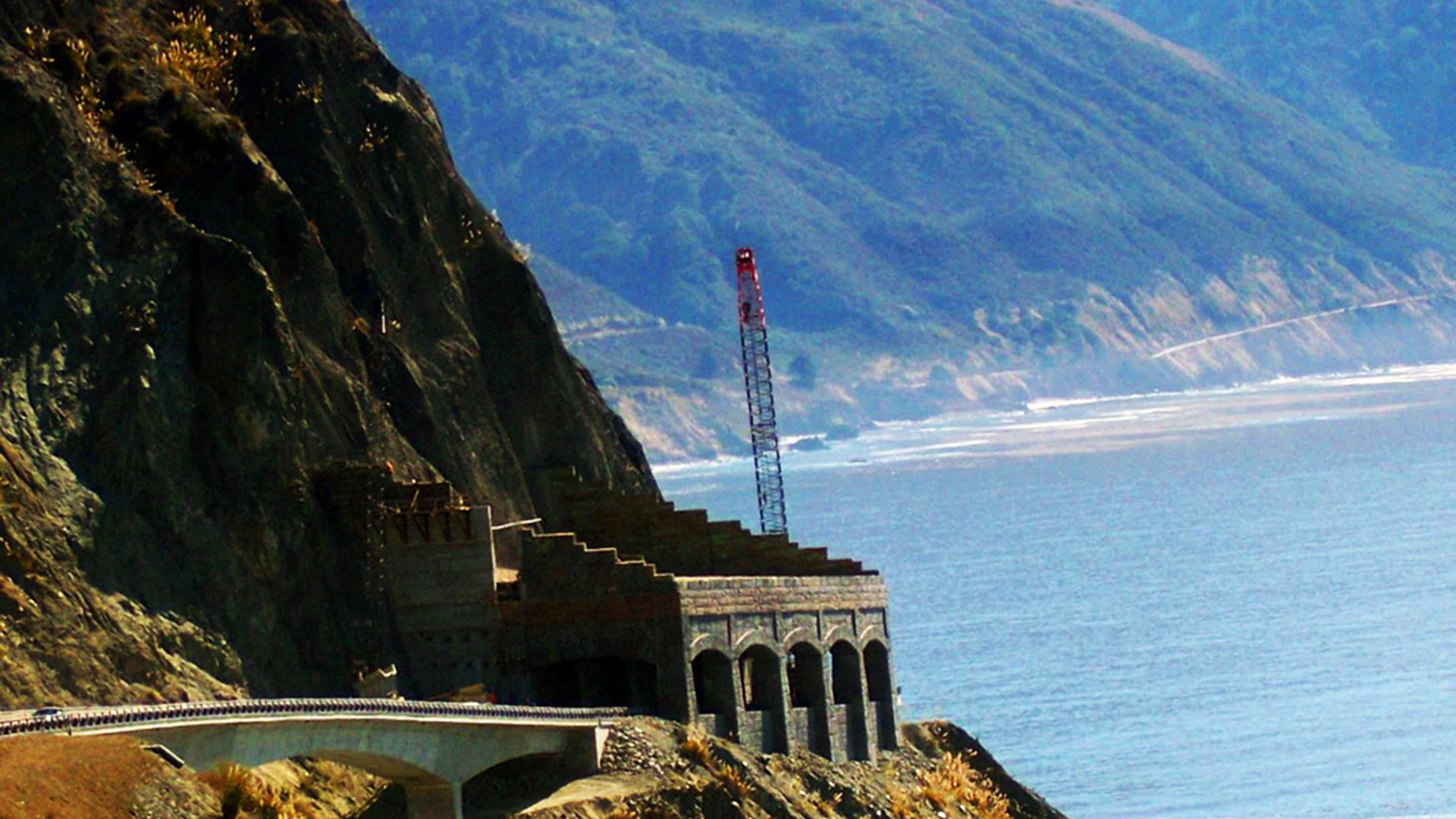 CalTrans completed building the Pitkins Curve bridge south of Big Sur this week.