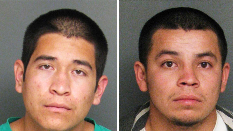 Francisco Chacala-Valdez, left, and Juan Hernandez-Delgado, right, are seen in police mug shots.