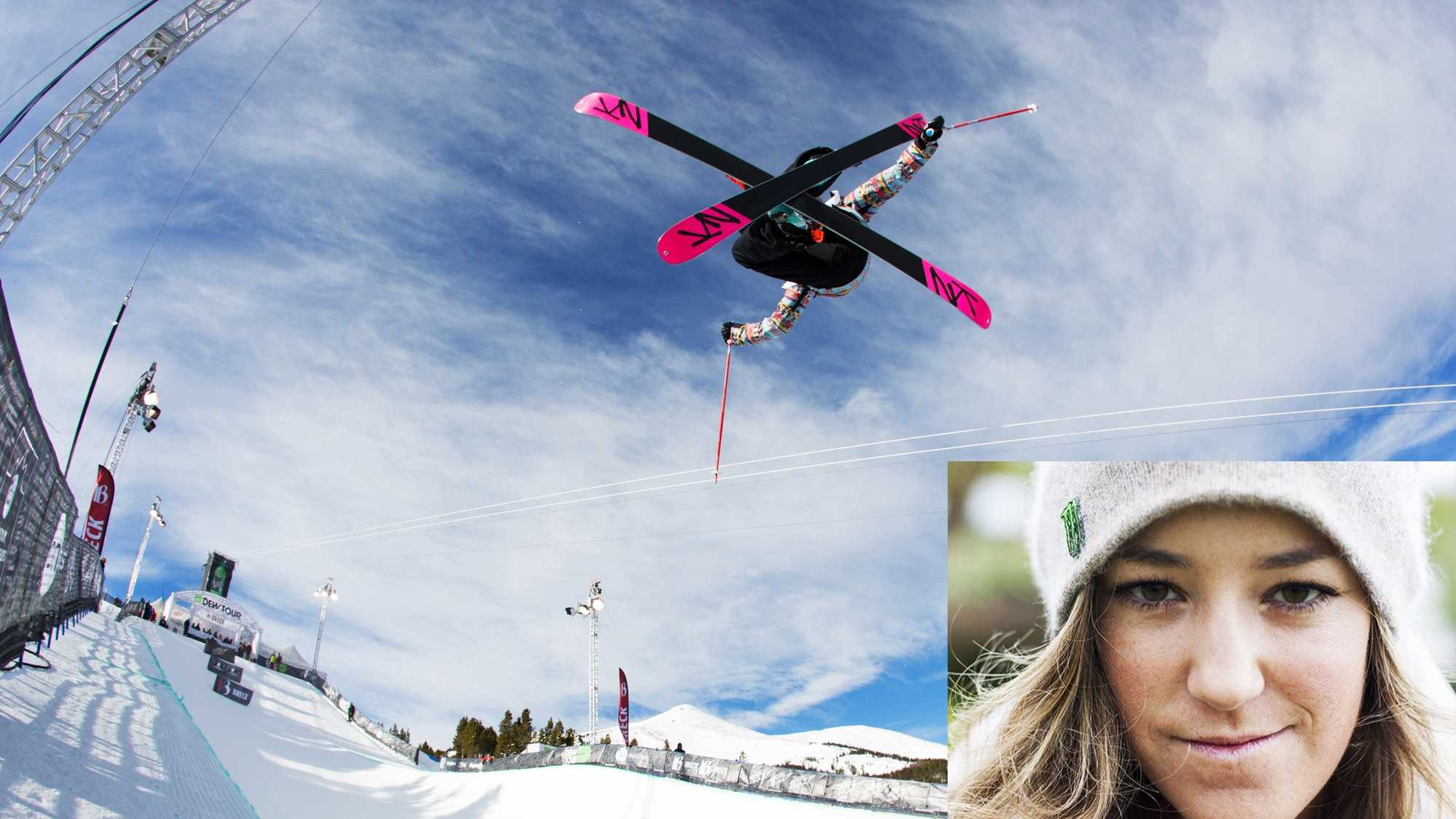 Halfpipe skier Brita Sigourney lives in Carmel.