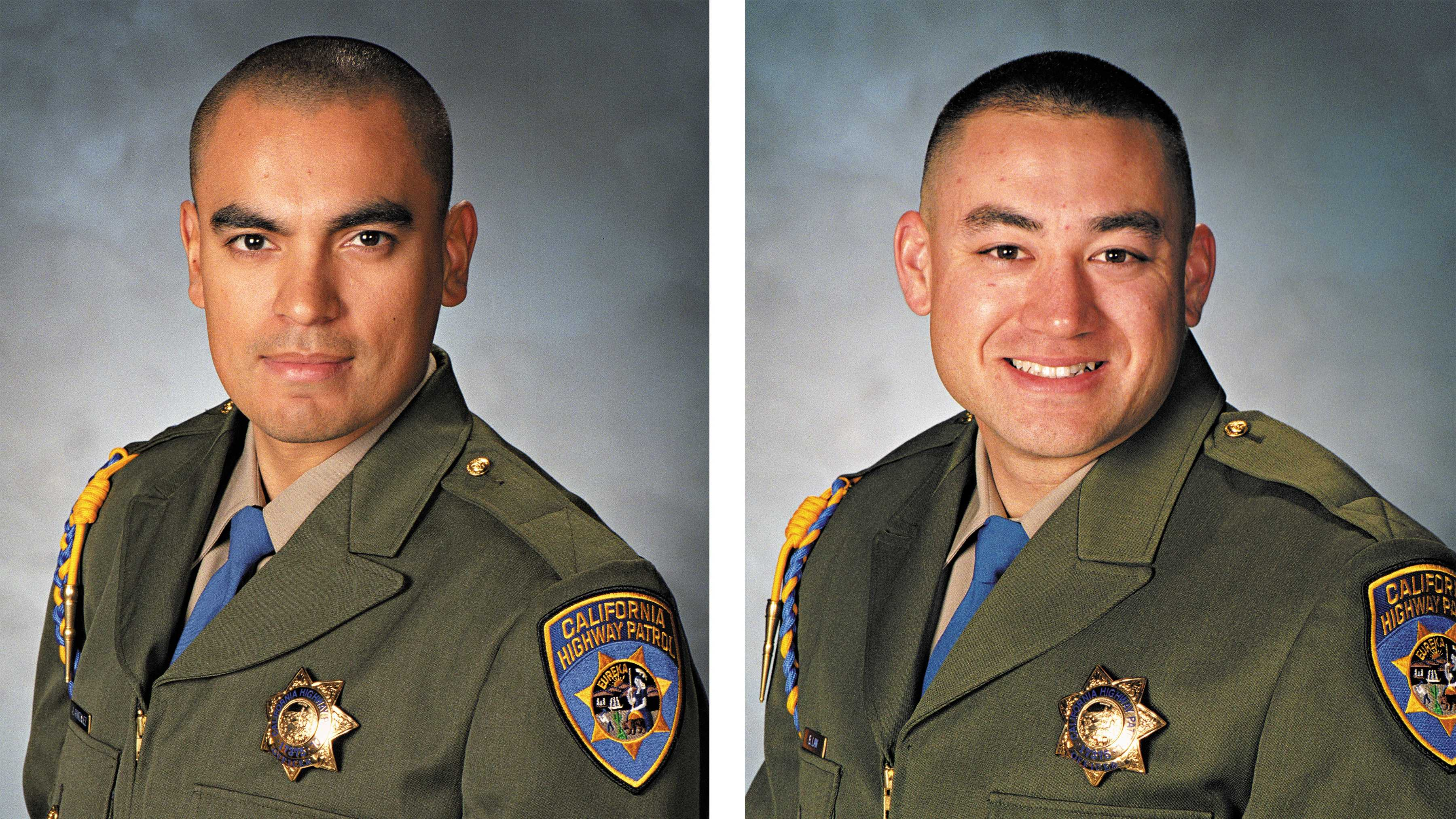 CHP Officers Brian Law and Juan Gonzalez