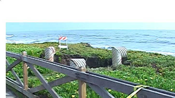 A sinkhole opened up in Santa Cruz on Saturday morning forcing the closure of part of West Cliff Drive.