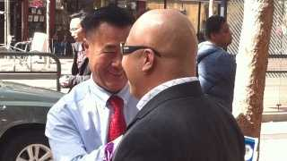 """Sen. Leland Yee, at left, and Raymond Chow, also known as """"Shrimp Boy."""""""