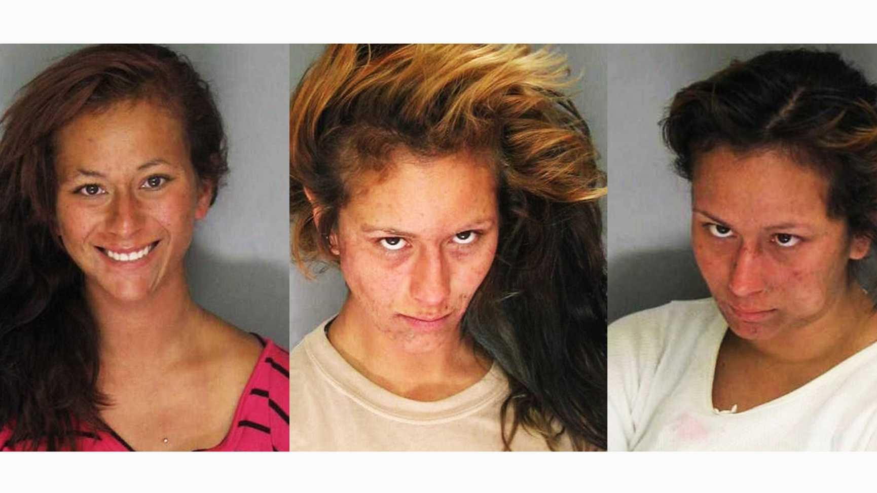 Fidela Curiel in August 2013, left, Nov 2013, middle, and March 2014, right.