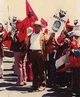 Arnoldo Salas' father is shown here participating in the Salinas march.