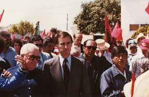 Gov. Jerry Brown marched with Chavez.