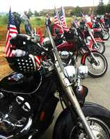 Two U.S. flag-waving rallies staged outside Live Oak High School on Cinco De Mayo went smoothly Monday.