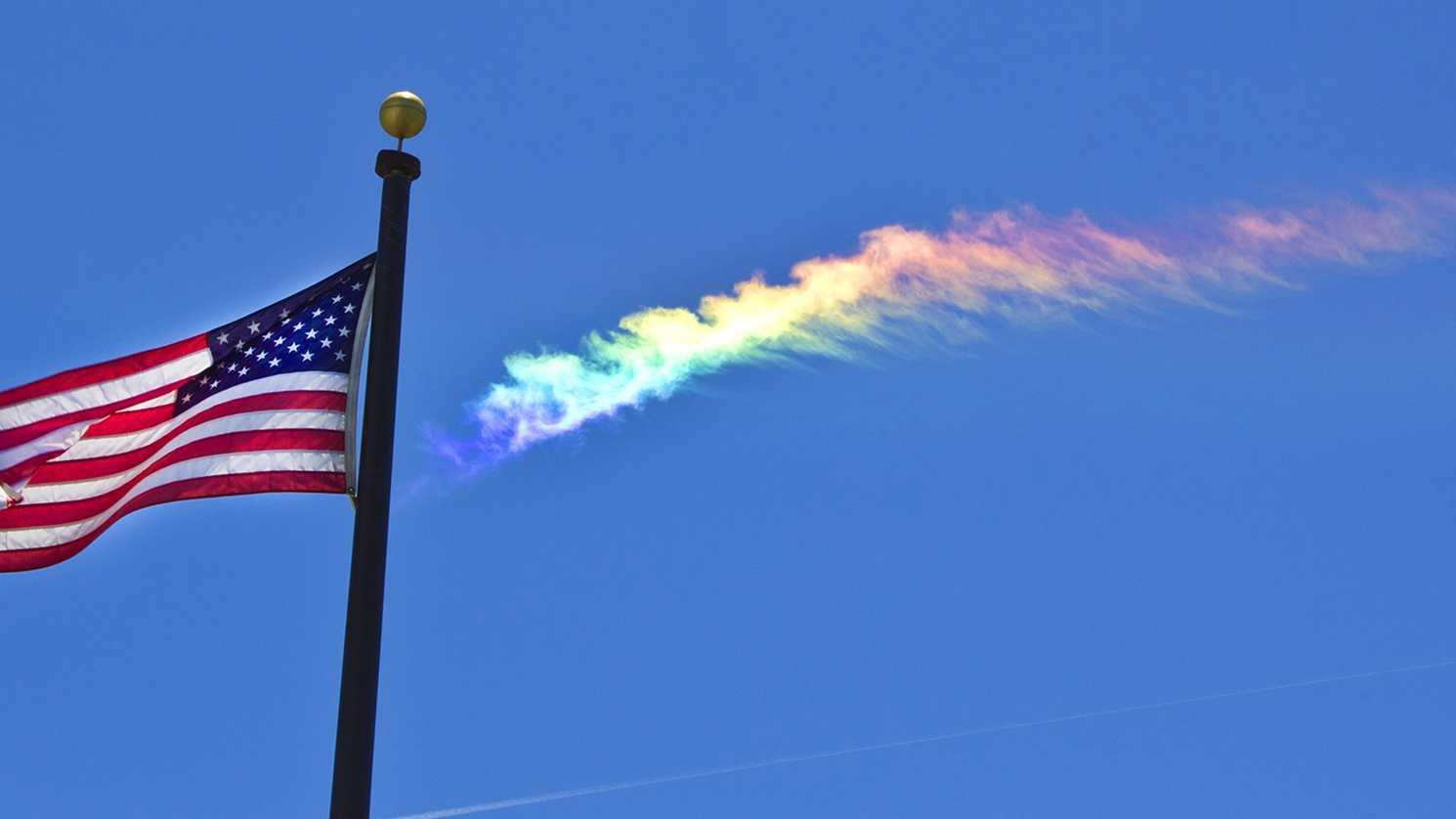 Doug McFarland shot this photo of a colorful cloud over Salinas Friday. (May 9, 2014)