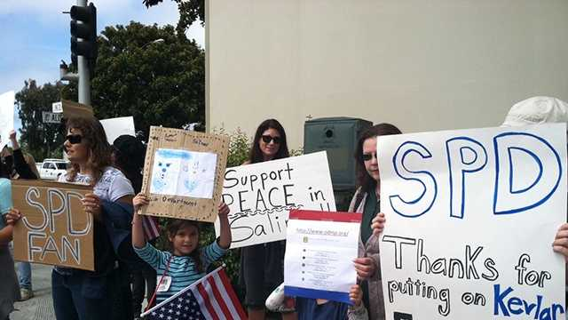 Rally held for Salinas police after officer-involved shooting