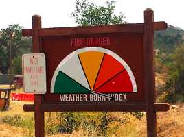 The Fire Danger sign at the Army base was off the chart.
