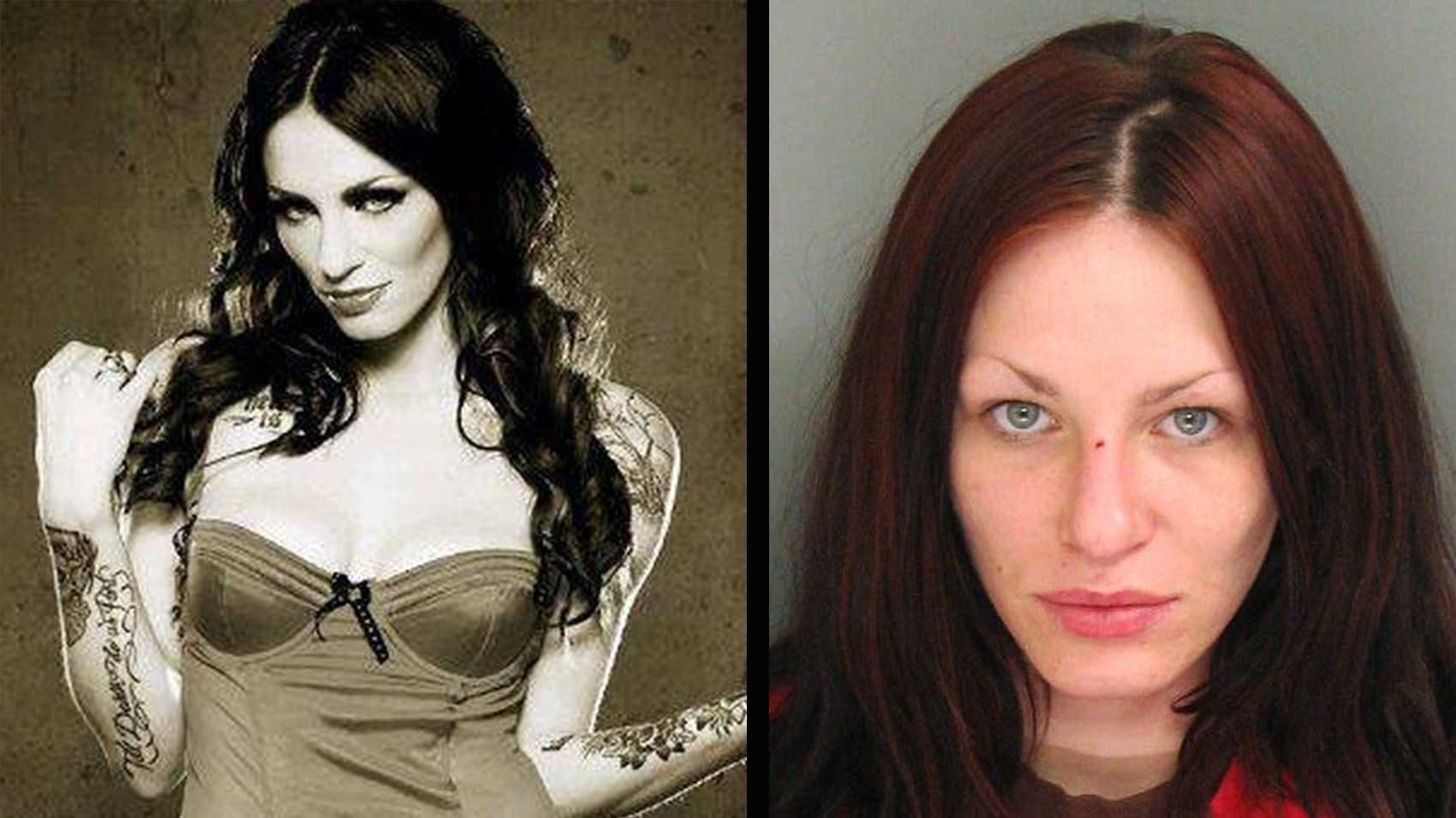 Alix Tichelman is seen in a Facebook photo, left, and in a jail mug shot, right.