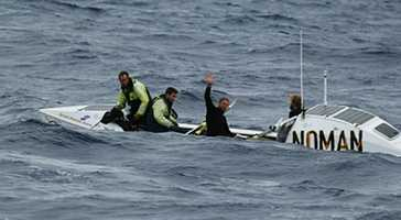 It took Team Uniting Nations 43 days, two hours, and 30 minutes to row 2,281 nautical miles from Monterey to Hawaii.