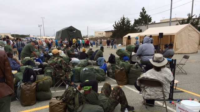 Sunday was the final day of the three-day Monterey County homeless veterans stand down.