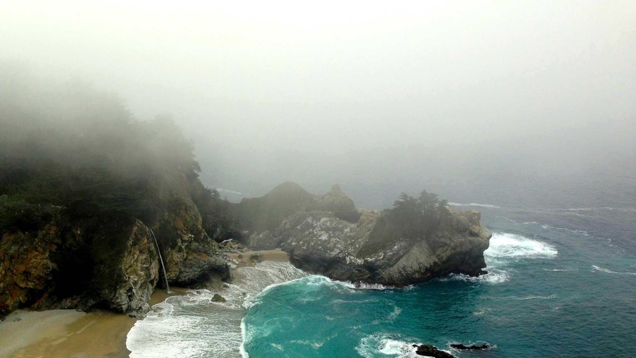 Fog over Big Sur.  / Photo by Stan Russell