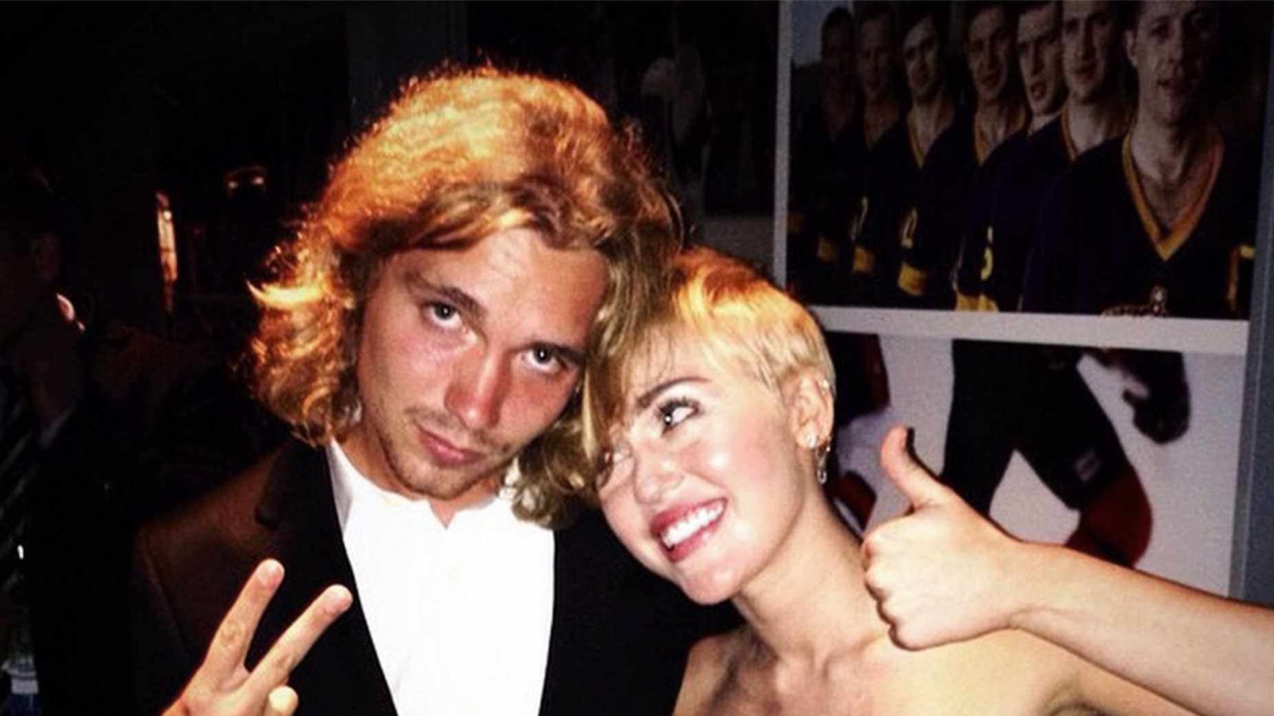 Miley Cyrus and her MTV Video Music Awards date, Jesse Helt.